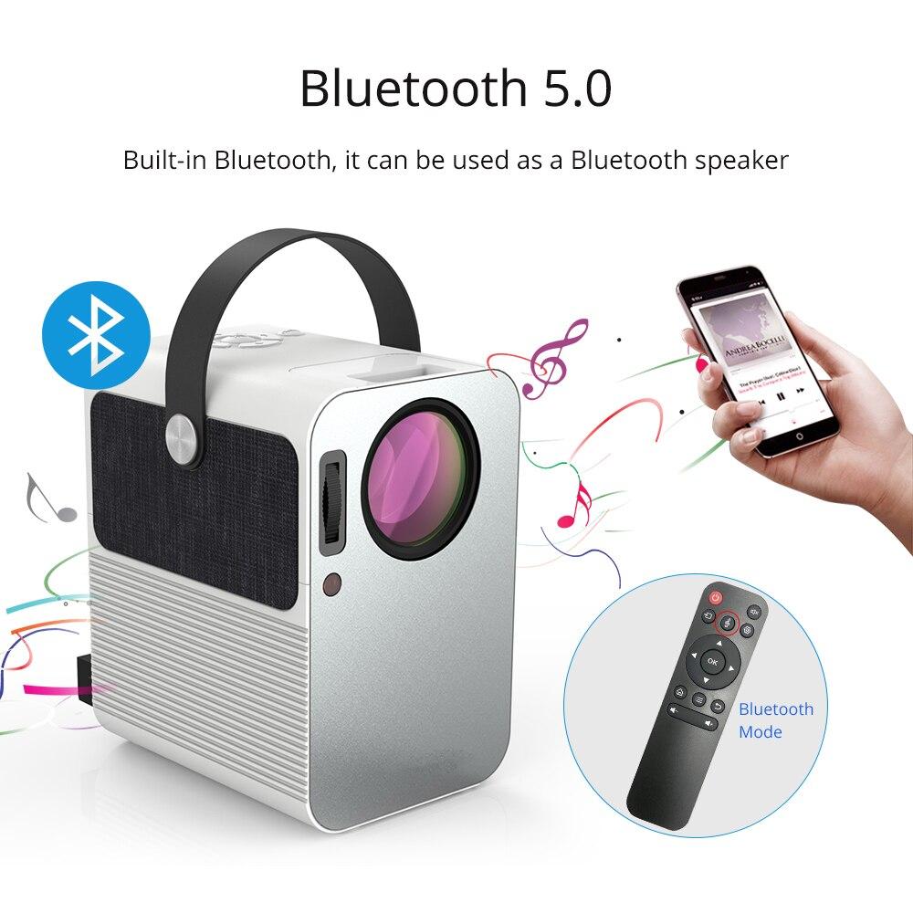 Everycom r10 led vídeo mini projetor hd 720p portátil beamer suporte completo hd 1080p uso do cinema de cinema em casa como alto-falante bluetooth,Este é um código de desconto 99 menos 15:DISC15-2