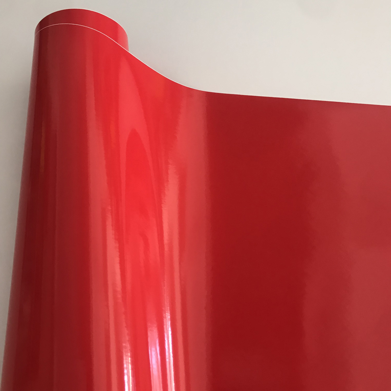 lowest price 50cmx300cm Piano Black White Red Glossy Vinyl Film Sticker Car Trucks Computer Car Gloss Wrap Foil  Covering with Air Release