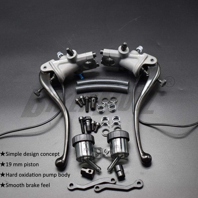 2020 хит! Универсальный мотоциклетный 19 RCS тормозной насос с ЧПУ, рычаг сцепления, радиальный главный цилиндр, бак насоса для Honda Yamaha Kawasaki