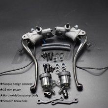 2020 Hot! Motorcycle Universal 19 RCS CNC Brake Pump Clutch cable Lever Radial Main cylinder Pump Tank For Honda Yamaha Kawasaki