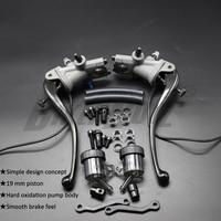 2020 Hot! Motorcycle Universal 19 RCS CNC Brake Pump Clutch cable Lever Radial Main cylinder Pump Tank For Honda Yamaha Kawasaki