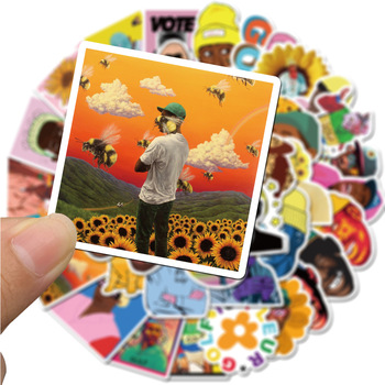 10/50pcs Rapper Tyler The Creator Waterproof Stationery Sticker PVC Skateboard Suitcase Luggage Laptop Stickers Kid Toy - discount item  22% OFF Stationery Sticker