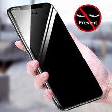 5D prywatności AntiSpy pełne szkło hartowane ochraniacz ekranu dla iPhone Xs Max 11 Pro XR X 7 8 6S Plus Anti  shatter folia ochronna