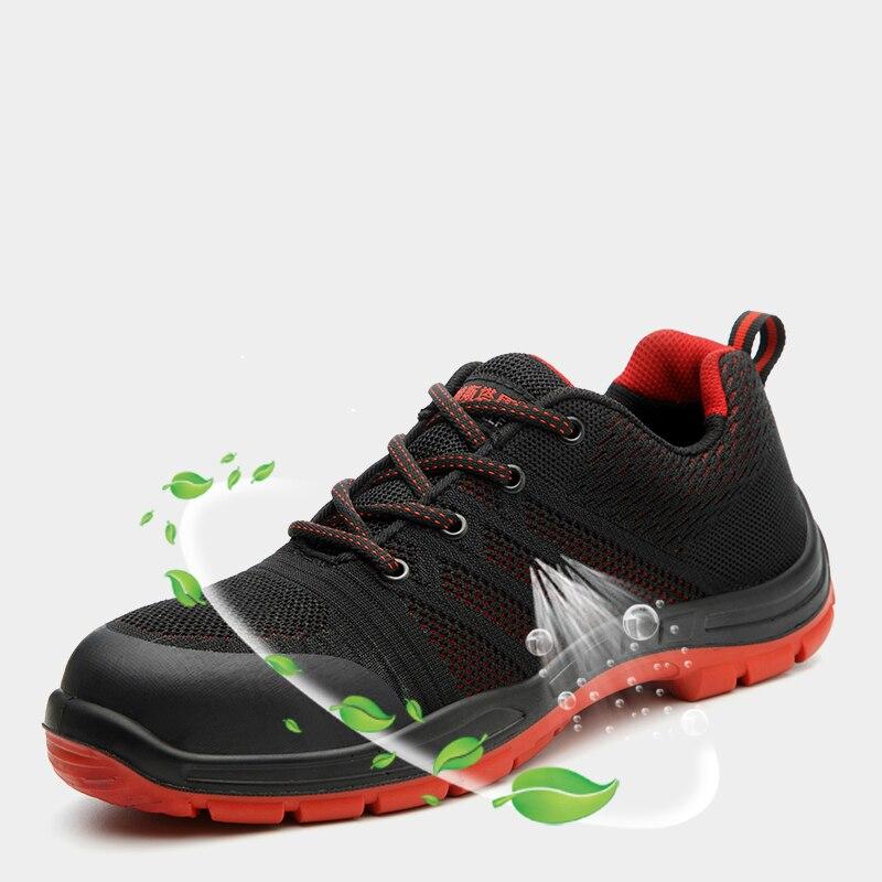 Nouvelle mode hommes grande taille respirant en acier orteil casquettes travail chaussures de sécurité anti-percer chantier ouvrier chaussure bottes de sécurité homme