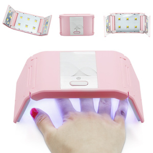 Image 2 - LKE Folded Nail Dryer 36W UV Lamp For LED Gel Portable Nail Lamp Arched Shaped Lamps for Nail Art Perfect Thumb Drying Solution
