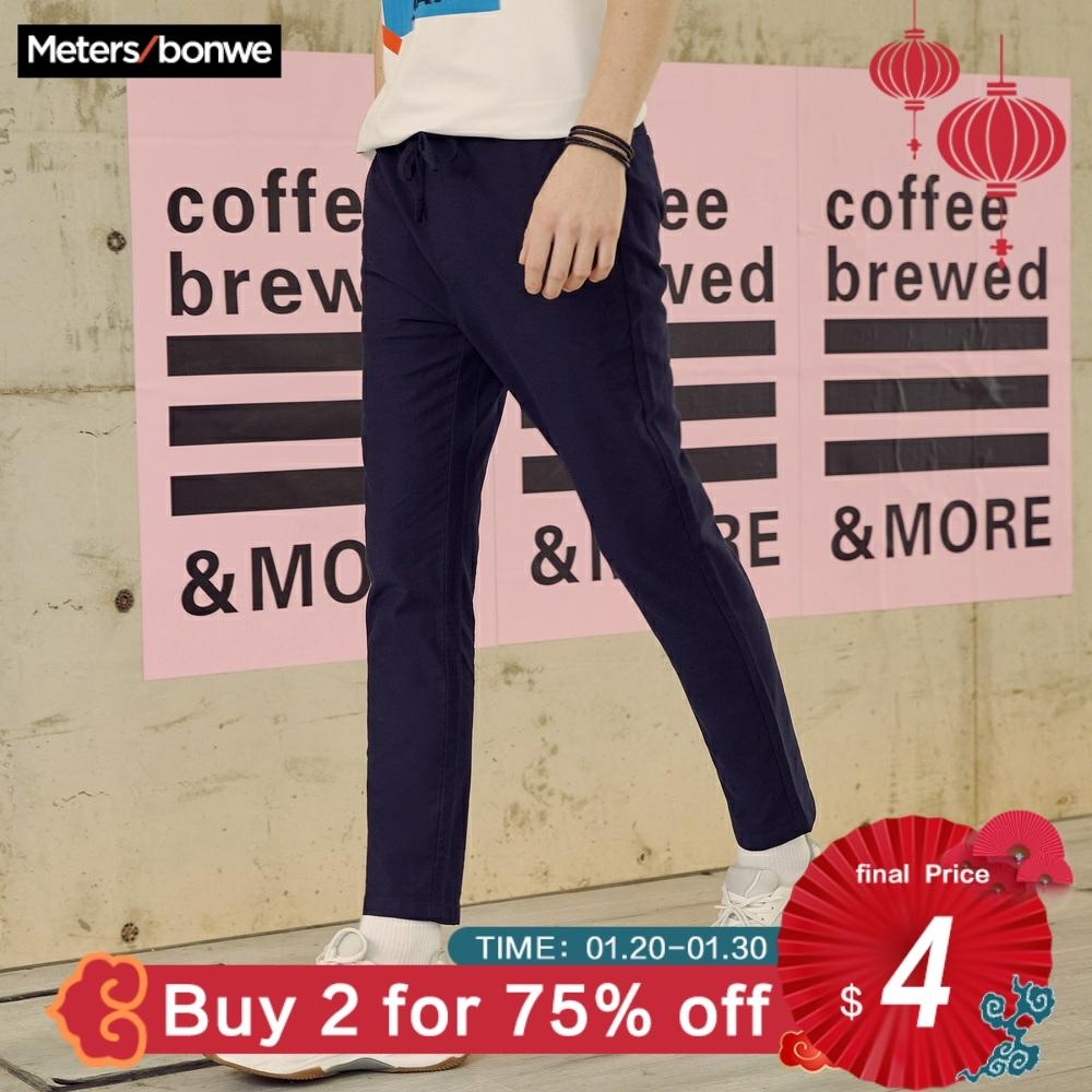 Metersbonwe Men Smart Casual Pants New Spring Autumn Trousers Slim Fit Chinos Fashion Sports Male Brand Trousers  High Quality