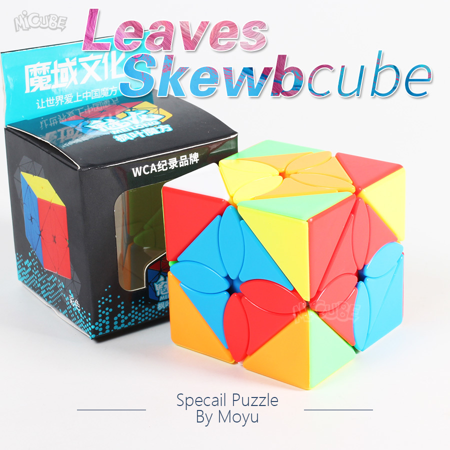 Moyu Meilong Leaves Skew Cube Puzzle Specail Strange Shape Ivy Cube Magic Cubes Speed 3x3x3 Educational Magic Cube Toys Game