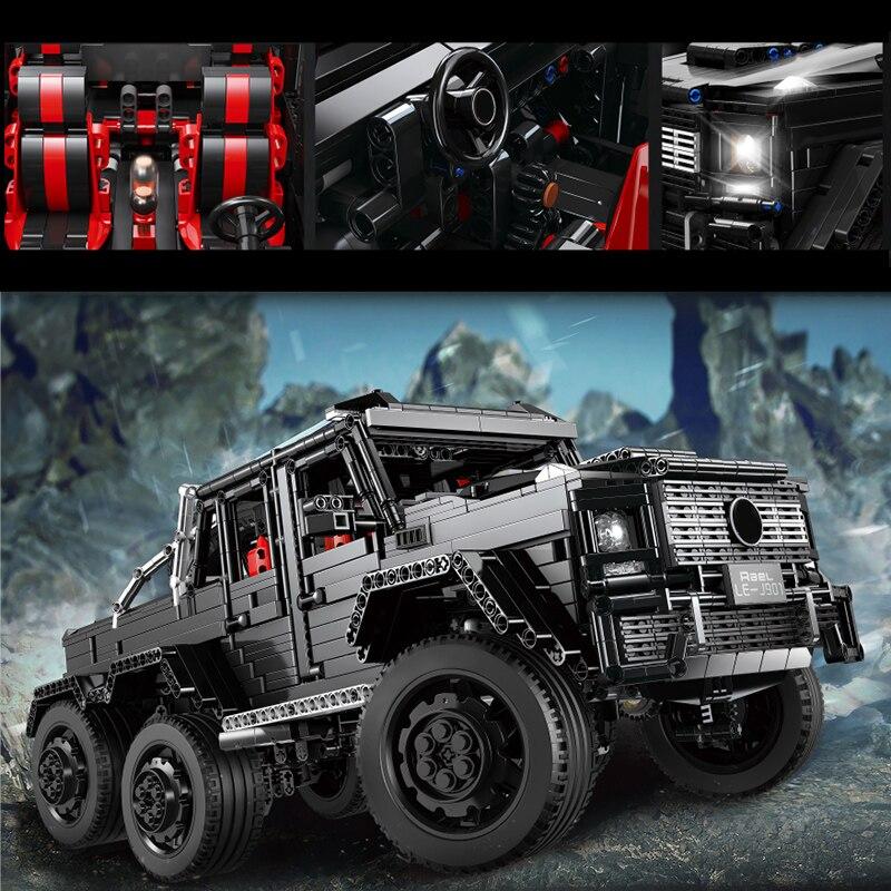 3300 шт. внедорожник 6x6 LAND CRUISER Technic создатель города SUV автомобиль RC/Non-RC строительные блоки кирпичи детские игрушки подарки для детей