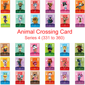 Seria 4 (331 do 360) Animal Crossing Card karta Amiibo praca dla NS 3DS gra nowe horyzonty seria 4 Pietro Aurora Fang Villager