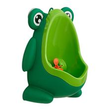 Portable Ergonomic Children Boy Kids Toilet Training Children Potty Pee Urine Home Bathroom Frog Shape Toilet Urinal(China)