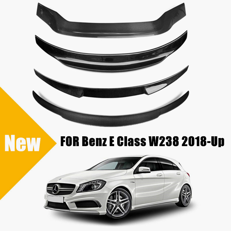 Carbon Fiber Rear Spoiler for <font><b>Benz</b></font> E Class W238 2018 2019 for Mercedes <font><b>C238</b></font> W238 Rear Trunk Lid Wing PSM / AMG Style Spoiler image