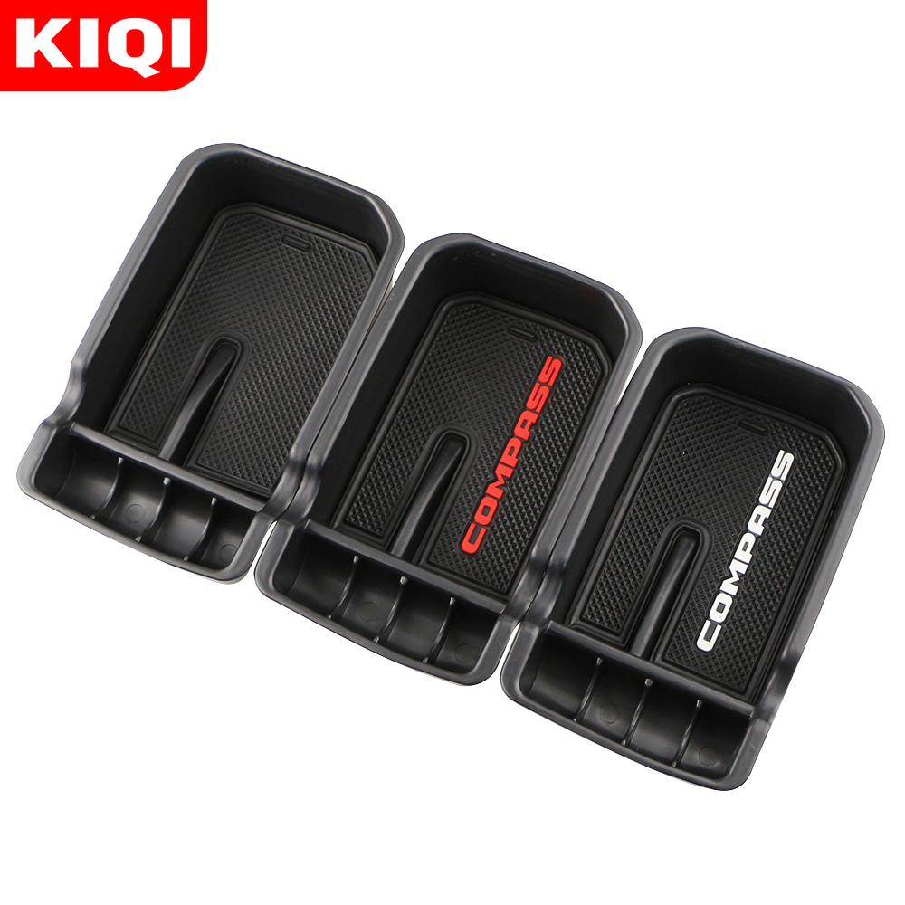 ABS Car Armrest Storage Box Holder Container for Jeep Compass 2018 2019 2017 Glove Organizer Interior Accessories|Stowing Tidying| |  - title=