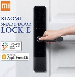 Умный дверной замок Xiaomi E пароль по отпечатку пальца разблокировка Bluetooth Обнаружение будильника работа приложение Mi Home дверной звонок и дом...