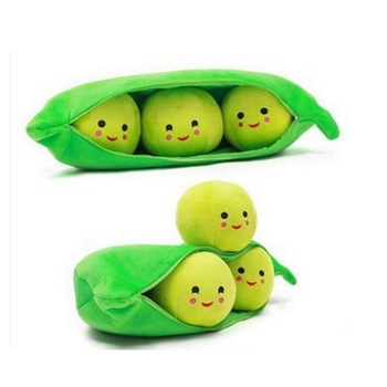 Simulation Kawaii cute cartoon Creative pea pod pillow plush toy stuffed cloth toys for children Plush plant Birthday Gift creative cute cartoon deer short plush toy stuffed animal plush doll toys children birthday