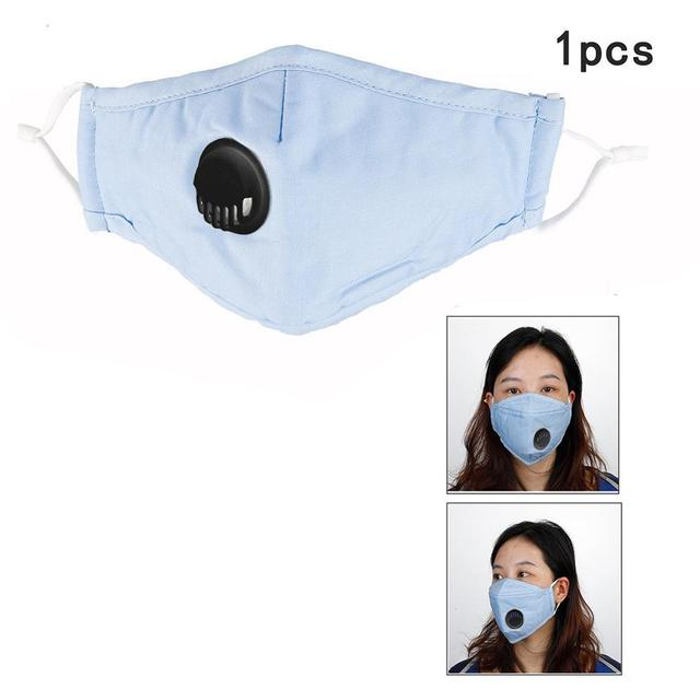 1PCS Mouth Face Mask Filter With Breathing Valve Anti-Fog Dustproof Anti Flu Mask Respirator Safety Protective Face Mask