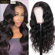 Morichy T Part Lace Front Wigs Body Wave Brazilian Virgin Human Hair Transparent Lace Front Wigs 13x4 for Women 150% Density
