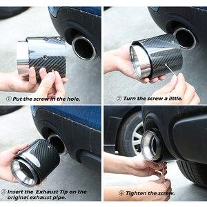 Image 5 - סיבי פחמן רכב צינור פליטת צעיף קצה למיני קופר F54 F55 F56 F57 R60 R61 F60 R55 R56 R57 r58 R59 S JCW אבזרים