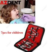 7 pièces/ensemble Dentaire En Acier Inoxydable Pince à Dents Pour Enfants Pince D'extraction Pince Kit Dentaire Orthodontique Pince Chirurgicale Kit