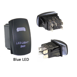 Image 2 - 1PC 12V 24V Marine Switch Car Boat Rocker Switch Truck SPST Switch Carling Waterproof 5Pin ON OFF Switch WIth Dual LED Light Bar