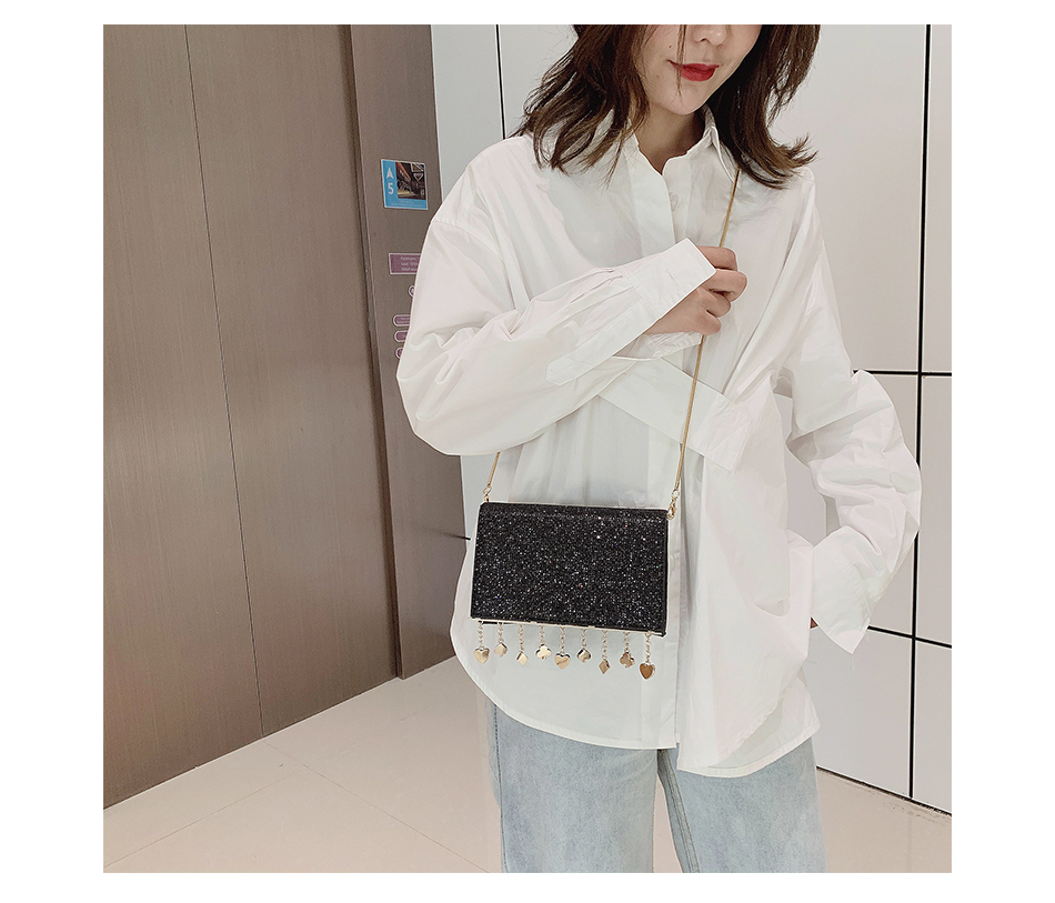 H35090905515542a687476ce8dcf119e4z - Women Sequin Glitter Evening Clutch Bag Ladies Sparkly Design Wedding Party Shiny Handbag Lady Chain Metal Shoulder Bag