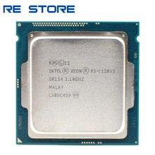 تستخدم إنتل زيون E3 1220 V3 3.1GHz 8MB 4 النواة SR154 LGA1150 معالج وحدة المعالجة المركزية E3 1220V3