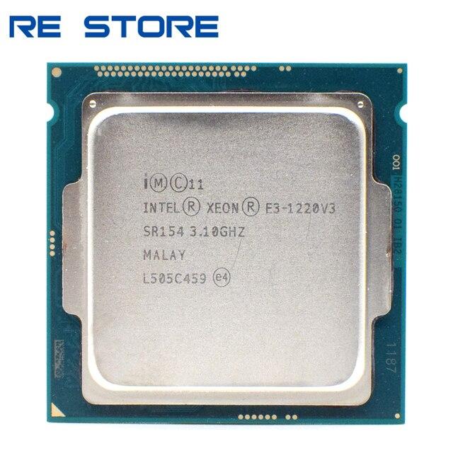 משמש Intel Xeon E3 1220 V3 3.1GHz 8MB 4 Core SR154 LGA1150 מעבד מעבד E3 1220V3