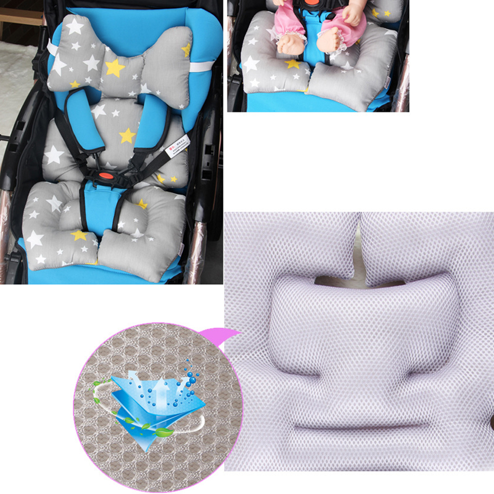 Mattress Cartoon Animal Cotton Warm Pad Stroller Seat Cushion Chair Baby Car Pillow Case Thick