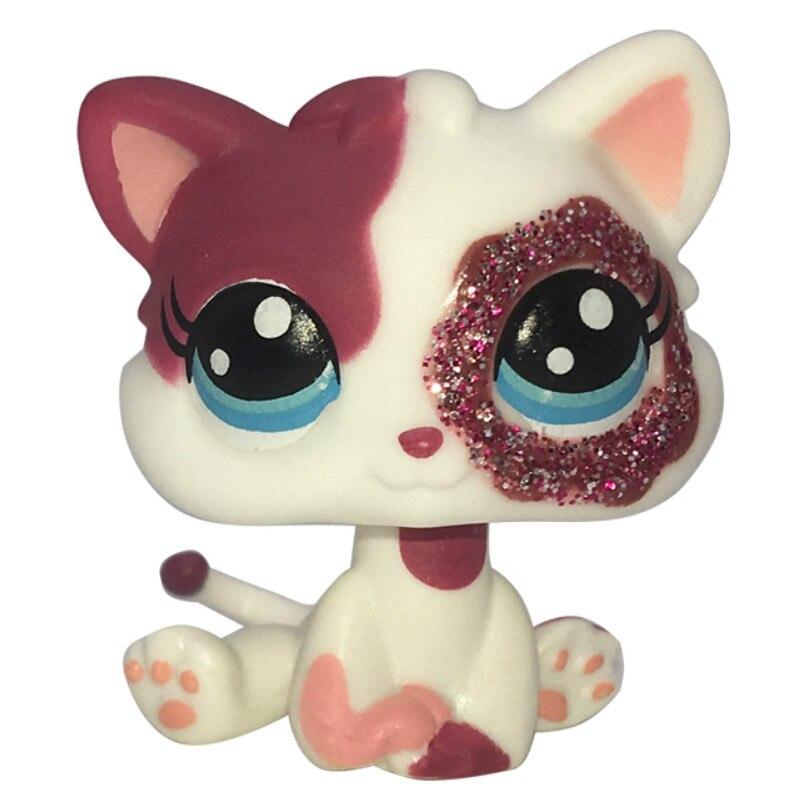 Лпс стоячки кошки Игрушки для кошек lps, редкие подставки, маленькие короткие волосы, котенок, розовый#2291, серый#5, черный#994,, коллекция фигурок для питомцев - Цвет: 2291S