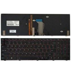 Novo teclado dos eua para lenovo y590 y500 y510p us teclado do portátil blacklight