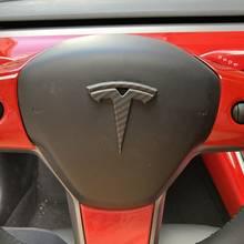 Matowe wykończenie matowe włókno węglowe do modelu Tesla 3 Auto logo łatka dekoracyjna akcesoria do modyfikacji głowa samochodu skrzynka ogonowa logo