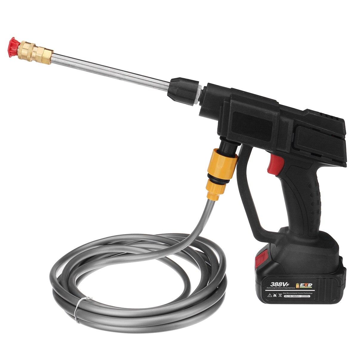 600W Cordless Portable High Pressure 24V Car Wash Gun