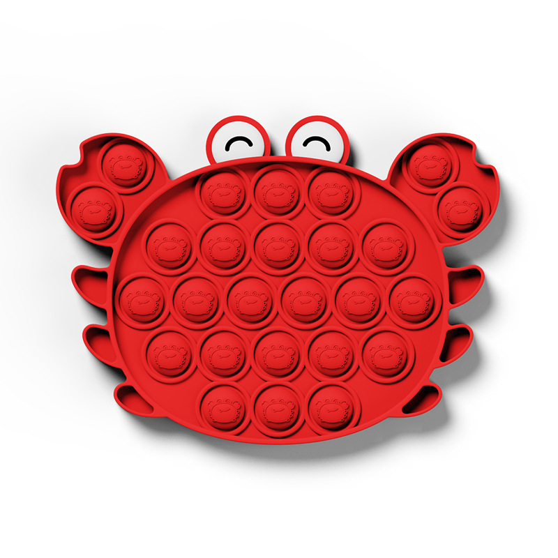 Push Popit Bubble Crabs and Lobsters Fidget Toys Autism Special Needs Sensory Anti-Stress Relief Toy Poppit Game Gift for Kids