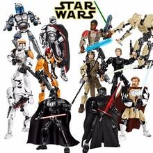 Star Wars Buildable Figure Stormtrooper Darth Vader Kylo Ren Chewbacca Boba Jango Fett General Grievou Action Figure Kid Boy Toy