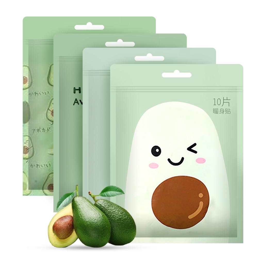 10Pcs/ Lot Cartoon Winter Heating Pad Self Adhesive Menstruation Body Warmer Sticker Keep Warm Paste Pad Heat Long Lasting Patch