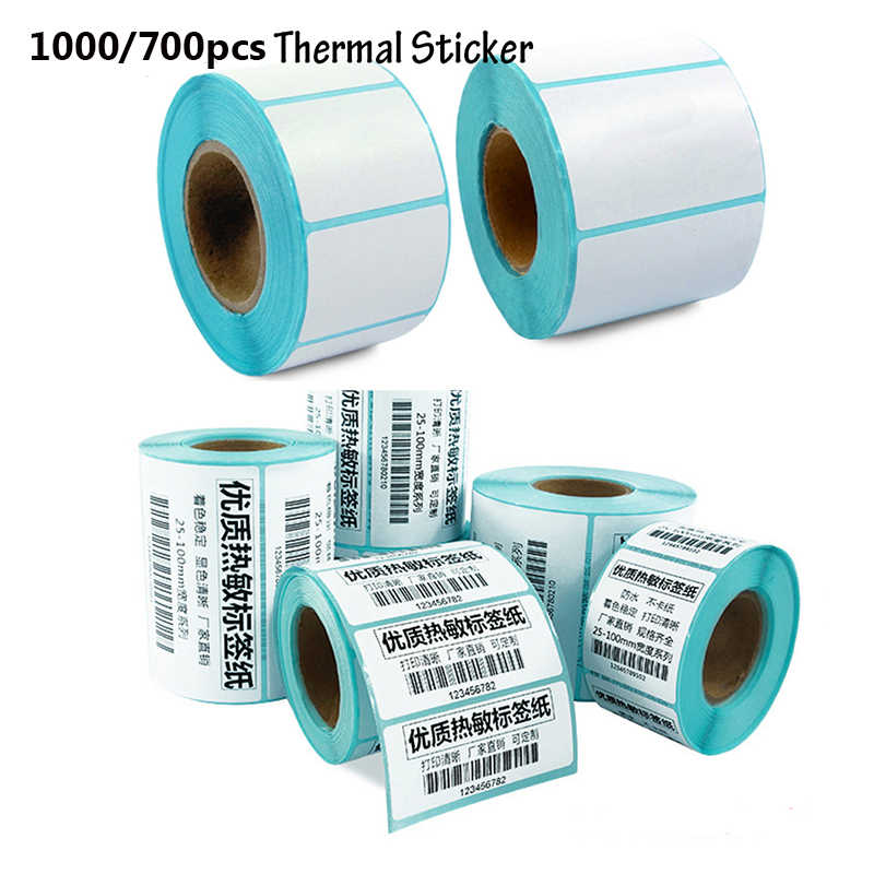 Price Blank Tag Cards Adhesive Paper Waterproof Package Label Thermal Sticker