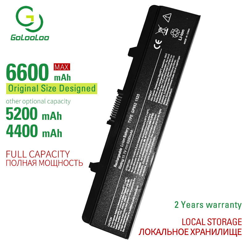 Golooloo 6 CELL Laptop Battery For DELL Inspiron 1525 1526 1545 1546 Vostro 500 CR693 GW240 GW241 GW252 HP277 HP297 PP29L M873