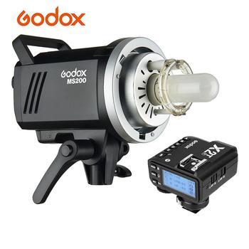 Godox MS200 Studio Flash Strobe Light+X2T-F TTL Wireless Flash Trigger Built-in 2.4G Wireless X System for Fuji DSLR Camera