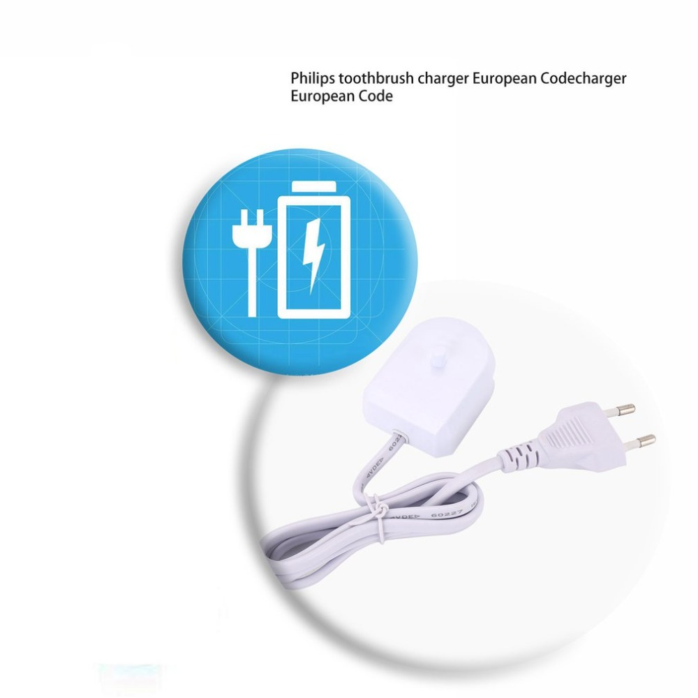 For Philips Sonicare Flexcare HeathyWhite HX6100 Toothbrush Travel Charger fit HX8111 HX8141 HX8401 HX8140 European EU Plug image