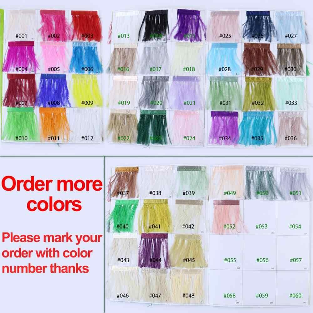 1meter 32 farben Natürliche straußen feder Trimmen höhe 8-10cm federn band für DIY hochzeit party kleid dekoration handwerk