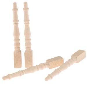 4Pcs/set Brain Game Kids Toys Dollhouse Miniature DIY Wooden 1:12 Furniture Leg Chair Table(China)