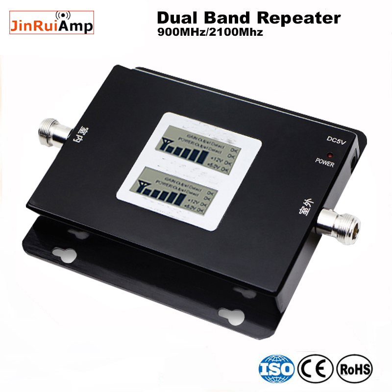 Russia 2G GSM repeater 900 3G 2100 Cell phone Signal amplifier Cellular Booster GSM WCDMA UMTS 2100 2G 3G 4G Signal Antenna