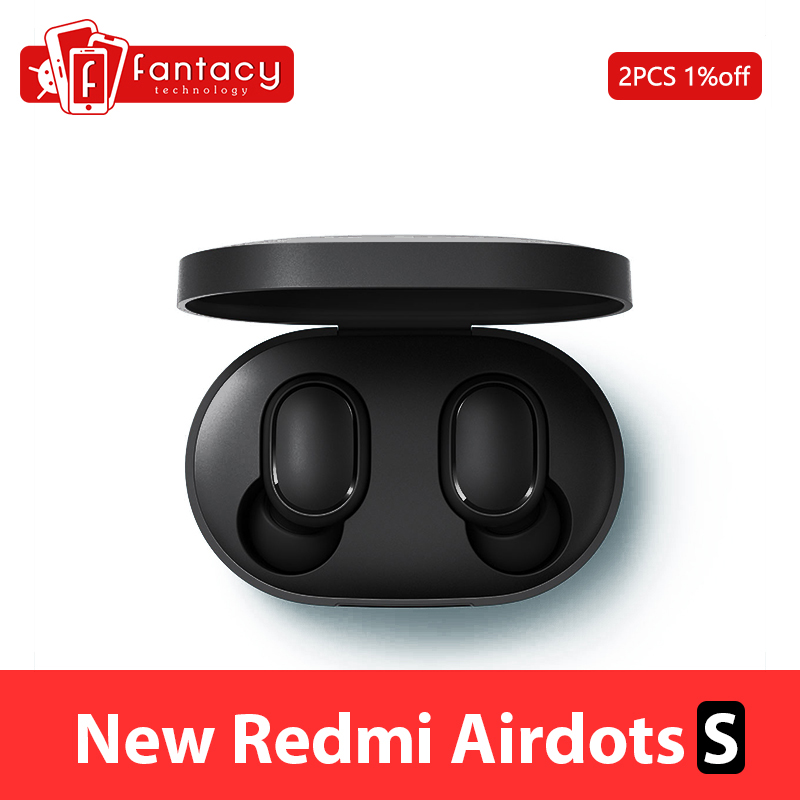 New Xiaomi Redmi AirDots S Bluetooth 5.0 Wireless Earphone TWS Left Right Low Lag Mode Bluetooth 5.0 Headset Auto Link Game Mode