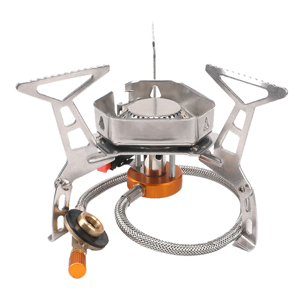 Wind Proof Outdoor Gas Burner Camping Stove Lighter Tourist Equipment Kitchen Cylinder Propane Grill Outdoor Windproof Stove