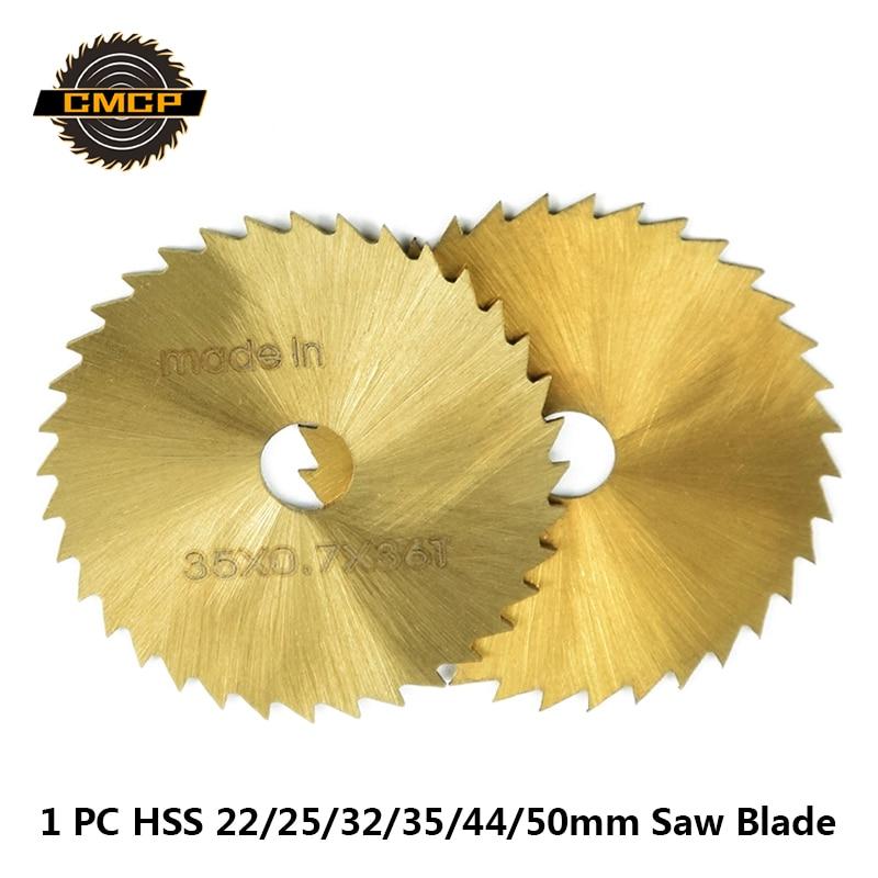 1pc HSS 22/25/32/35/44/50mm Mini Circular Saw Blade Titanium Coated Saw Blade With Mandrel Wood Cutting Disc Circular Saw Disc