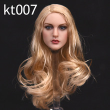 цена на KIMI Toys KT007 1/6 Scale European Girl Head Sculpt Model Toys for 12