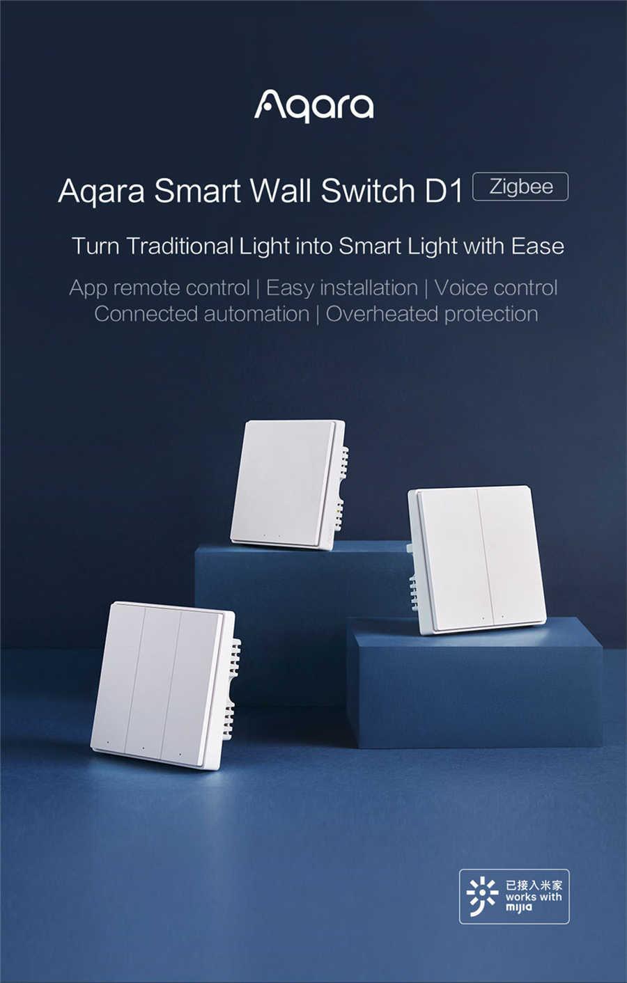 Aqara スマート壁スイッチ D1 zigbee 無線リモコンキーライトスイッチ中立火災ワイヤートリプルボタン xiaomi スマートホーム
