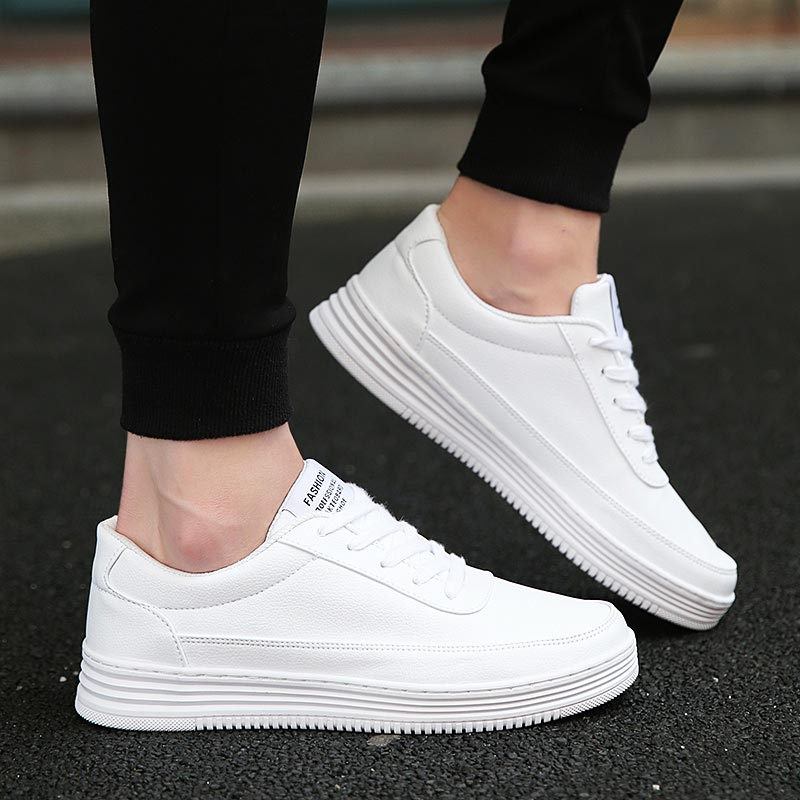 Big Size Sneakers Men's Leather PU Mens Sports Shoes Running Women Sport Shoes Man Designer Shoe Men Tennis White Athletic B-382