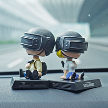 PUBG Battlefield Lovers Car Decoration Shake Head Doll Eat Chicken Car Ornaments Mobile Phone Seat Aroma Base Car Accessories