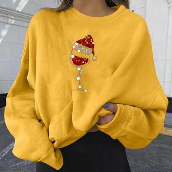 2021 Harajuku Hoodies Christmas Print Sweatshirt Woman Casual  Tops Korean Fashion Street Clothing New Fashion Tops 1