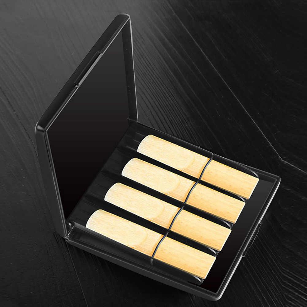 ABS wytrzymały Slot na karty chroniący przed zgubieniem wodoodporny zapinany praktyczny, nie odkształcający się cienki saksofon Reed Box ochronny odporny na zużycie